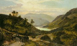 The Path Down to The Lake North Wales by Sidney Richard Percy