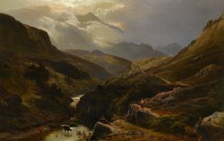 The Road to Loch Turrett by Sidney Richard Percy