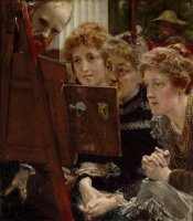 A Family Group by Sir Lawrence Alma-Tadema