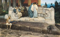 An Exedra by Sir Lawrence Alma-Tadema