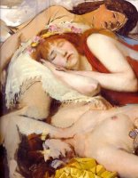 Exhausted Maenides After The Dance by Sir Lawrence Alma-Tadema