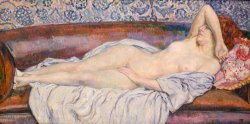 Reclining Nude by Theo van Rysselberghe
