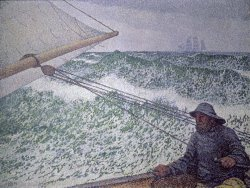 The Man at the Tiller by Theo van Rysselberghe