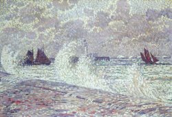 The Sea during Equinox Boulogne-sur-Mer by Theo van Rysselberghe