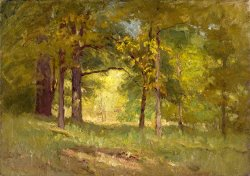 Autumn Words (forest Interiors) by Theodore Clement Steele
