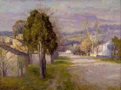 Brookville a Street by Theodore Clement Steele