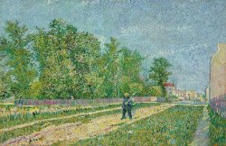 Road On The Edge Of Paris by Vincent van Gogh