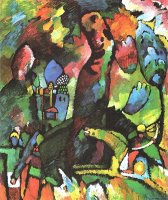 Picture with Archer 1909 by Wassily Kandinsky