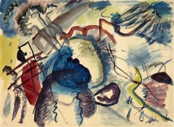 Study for 'painting with White Border (moscow)' by Wassily Kandinsky