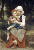 Breton Brother And Sister (1871) by William Adolphe Bouguereau