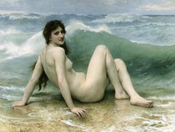 La Vague by William Adolphe Bouguereau