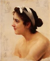 Study of a Woman for Offering to Love by William Adolphe Bouguereau
