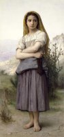 The Knitter by William Adolphe Bouguereau