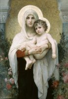 The Madonna of The Roses by William Adolphe Bouguereau