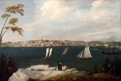 View of New Bedford From Fairhaven Circa 1848 by William Allen Wall