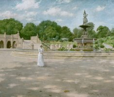 An Early Stroll in The Park by William Merritt Chase