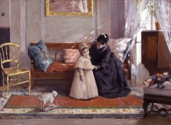 Mrs. Chase And Child (i'm Going to See Grandma) by William Merritt Chase