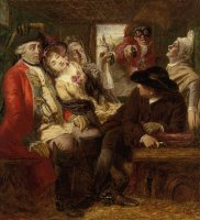 Sketch for Stage Coach Aventure by William Powell Frith