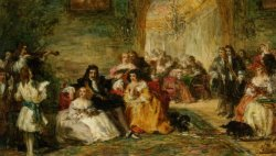 Study for The Last Sunday of Charles II by William Powell Frith