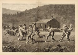 Snap The Whip, From Harper's Weekly, September 20, 1873, Pp. 245 25 by Winslow Homer