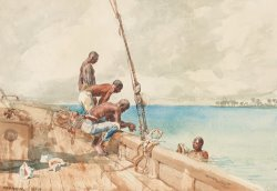 The Conch Divers by Winslow Homer