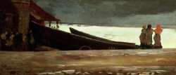 Watching a Storm on the English Coast by Winslow Homer