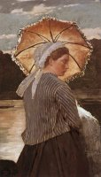 Woman with Parasol by Winslow Homer