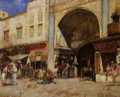 An Eastern Market by Alberto Pasini