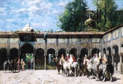 Circassian Knights Waiting for Their Leader by Alberto Pasini