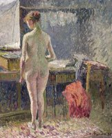 Female Nude Seen From The Back by Camille Pissarro