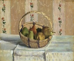 Still Life: Apples And Pears in a Round Basket (nature Morte: Pommes Et Poires Dans Un Panier Rond) by Camille Pissarro
