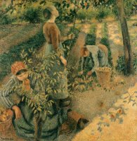 The Apple Pickers by Camille Pissarro