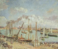 The Port of Le Havre in the Afternoon Sun by Camille Pissarro