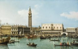 The Molo From The Basin of San Marco, Venice by Canaletto