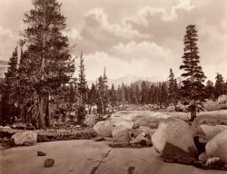 Ancient Glacier Channel. Lake Tenaya. Sierra Nevada Mountains. by Eadweard J. Muybridge