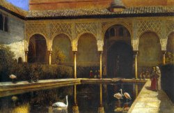 A Court in The Alhambra by Edwin Lord Weeks