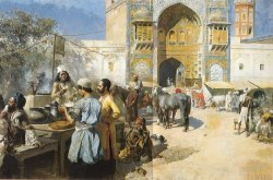 An Openair Restaurant, Lahore by Edwin Lord Weeks