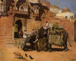 Elephants at The Palace of Jodhpore by Edwin Lord Weeks
