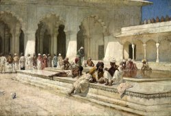 The Hour of Prayer at Moti Mushid (the Pearl Mosque), Agra by Edwin Lord Weeks