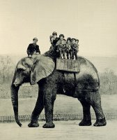 A Farewell Ride on Jumbo from The Illustrated London News by English School