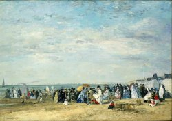 Beach of Trouville by Eugene Boudin