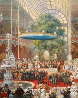 Opening of The Great Exhibition, 1 May 1851 by Eugene-Louis Lami