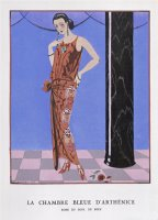 T Bar Shoes And a Sleeveless Drop Waist Dress with Sash Tie by Georges Barbier