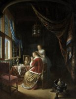 A Young Woman at Her Toilet by Gerrit Dou