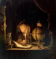 Astronomer by Candlelight by Gerrit Dou