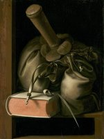 Still Life with Book And Purse by Gerrit Dou
