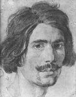 Portrait of a Man with a Moustache (supposed Selfportrait) by Gian Lorenzo Bernini