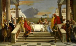 The Banquet of Cleopatra And Antony by Giovanni Battista Tiepolo