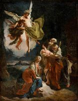 The Rest on The Flight Into Egypt by Giovanni Battista Tiepolo