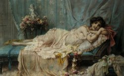 reclining Beauty by Hans Zatzka